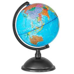 World Globe for Kids - 8 Inch of Perfect Spinning Blue